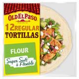 Old El Paso Regular Super Soft Flour Tortillas Family Pack x12 489g