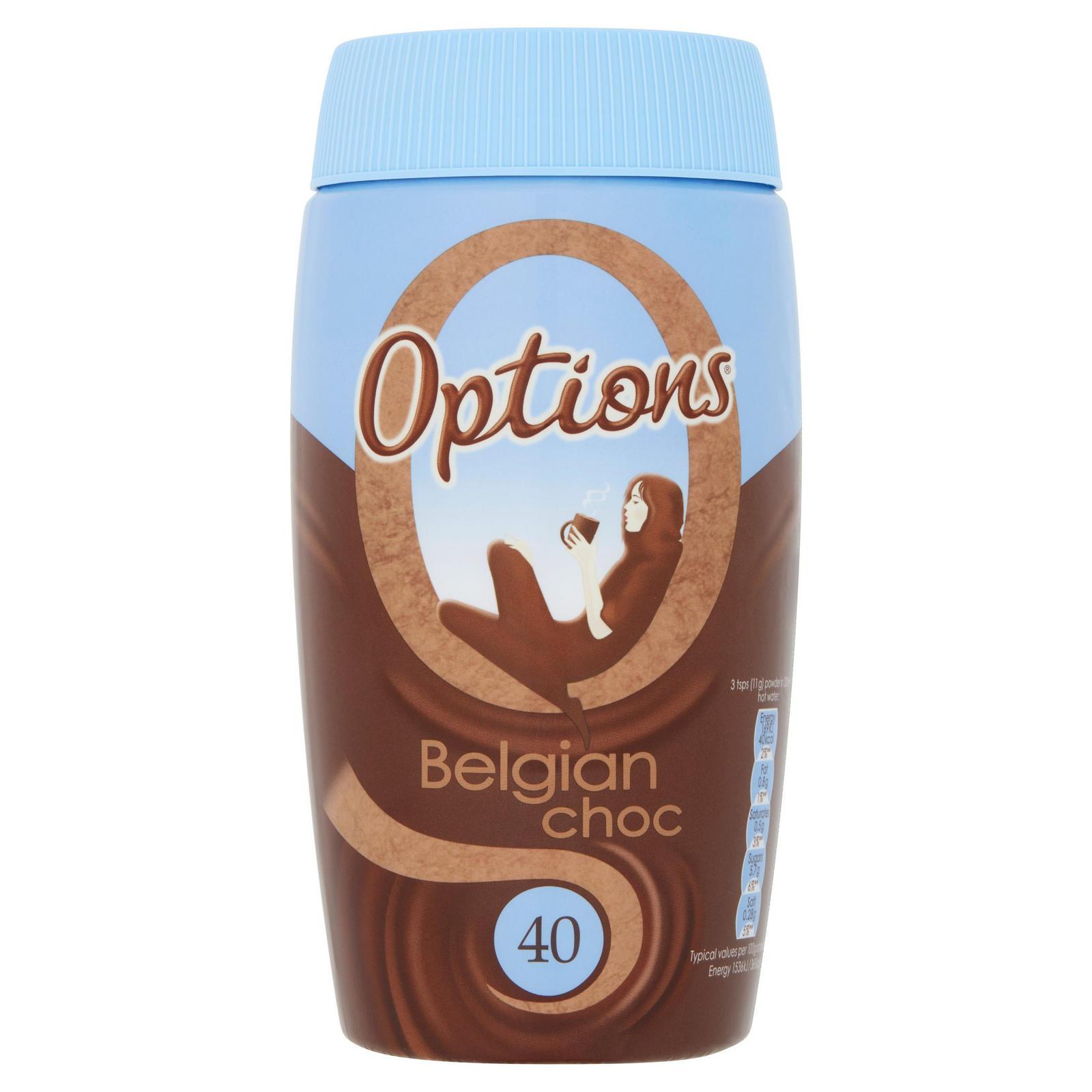 Options Belgian Choc 495g Hot Chocolate Iceland Foods