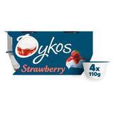 Oykos Strawberry Greek Style Yogurt 4 x 110g