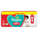 Pampers Baby-Dry Nappy Pants Size 6, 52 Nappies, 15kg+, Jumbo+ Pack