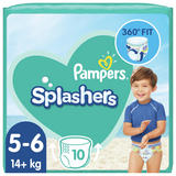 Pampers Splashers Size 5-6, 10 Disposable Swim Nappies, 14+kg