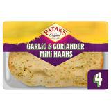 Patak's 4 Garlic & Coriander Mini Naans