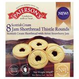 Paterson's 8 Scottish Cream Jam Shortbread Thistle Rounds 200g