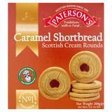 Paterson's Delicious Caramel Shortbread Scottish Cream Rounds 200g
