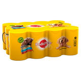 Pedigree Adult Wet Dog Food Tins Mixed Selection in Gravy 12 x 400g