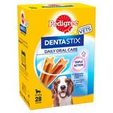 Pedigree Dentastix Adult 1+ Medium Dental Dog Chews 4 Packs of 7 Sticks 180g