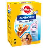 Pedigree Dentastix Daily Adult 1+ Large Dental Dog Chews 4 Packs of 7 Sticks 270g