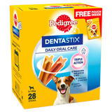 Pedigree Dentastix Daily Adult 1+ Small Dental Dog Chews 4 Packs of 7 Sticks 110g