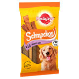 Pedigree Schmackos Adult Dog Treats Mixed Variety 10 Sticks 86g
