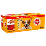 Pedigree Wet Dog Food Pouches Mixed Variety in Jelly 40 x 100g