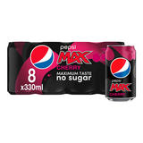 Pepsi Max Cherry Cola 8 x 330ml