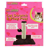 Pet Living Cat Scratch and Play Post