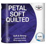 Petal Soft Quilted 4 Ply Toilet Tissue