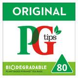 PG tips Original Biodegradable Tea Bags 80