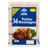 Plumtree Farms 36 Value Sausages 1.62kg