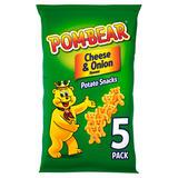 Pom-Bear Cheese & Onion Multipack Crisps 5 Pack