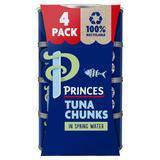 Princes Tuna Chunks in Spring Water 4 x 145g