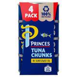 Princes Tuna Chunks in Sunflower Oil 4 x 145g