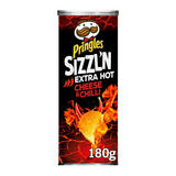 Pringles Sizzl'N Extra Hot Cheese & Chilli Crisps, 180g