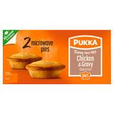 Pukka 2 Chicken & Gravy Shortcrust Microwave Pies