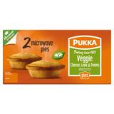 Pukka 2 Veggie Cheese, Leek & Potato Shortcrust Microwave Pies