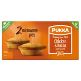 Pukka Chicken & Bacon Shortcrust 2 Microwave Pies