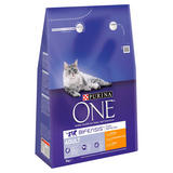 Purina ONE Adult Dry Cat Food Chicken and Wholegrains 3kg
