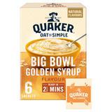 Quaker Oat So Simple Big Bowl Golden Syrup Porridge Sachets 6x49.6g