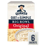 Quaker Oat So Simple Big Bowl Original Porridge Sachets 6x38.5g