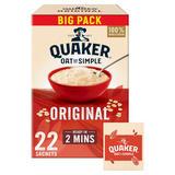 Quaker Oat So Simple Family Pack Original Porridge Sachets 22x27g