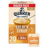 Quaker Oat So Simple Golden Syrup Family Pack Porridge Sachets 20x36g