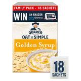 Quaker Oat So Simple Golden Syrup Flavour Porridge 18x36g