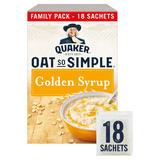 Quaker Oat So Simple Golden Syrup Porridge Sachets 18x36g