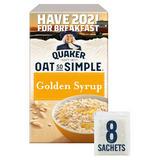 Quaker Oat So Simple Golden Syrup Porridge Sachets 8x36g
