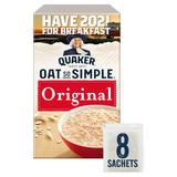 Quaker Oat So Simple Original Porridge Sachets 8x27g