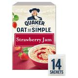 Quaker Oat So Simple Strawberry Jam Porridge Sachets 14x33.2g