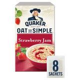 Quaker Oat So Simple Strawberry Jam Porridge Sachets 8x33.2g