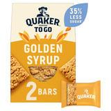 Quaker Porridge To Go Golden Syrup Breakfast Bars 2x55g
