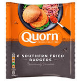 Quorn Proudly Meat Free 8 Southern Fried Burgers 504g