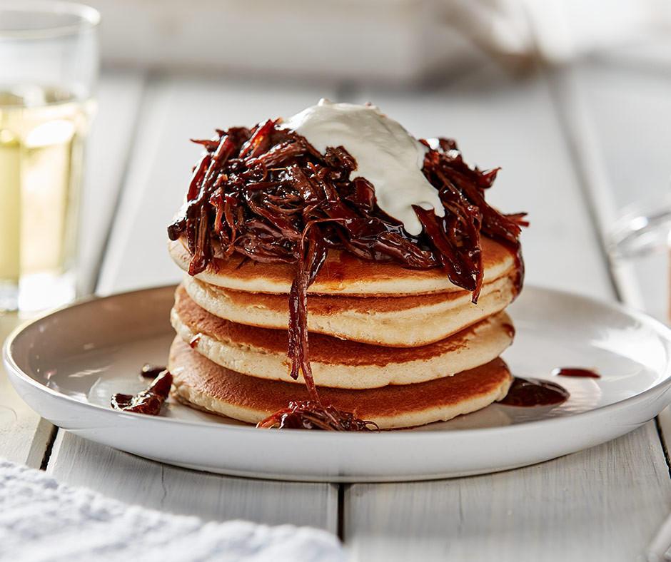 Beef Brisket Pancakes