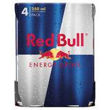 Red Bull Energy Drink, 250ml (4 Pack)
