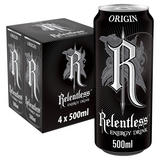 Relentless Origin Energy Drink 4x500ml