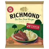 Richmond 20 Thick Frozen Pork Sausages 860g