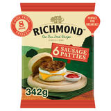 Richmond 6 Sausage Patties 342g