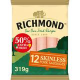 Richmond 12 Skinless Pork Sausages 319g