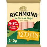 Richmond 12 Thin Pork Sausages 340g