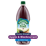 Robinsons Double Strength Apple & Blackcurrant Squash No Added Sugar 1.75L