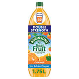 Robinsons Double Strength Orange No Added Sugar Fruit Squash 1.75 L