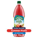 Robinsons Double Strength Summer Fruits Squash No Added Sugar 1.75L