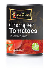 Royal Crown Chopped Tomatoes in Tomato Juice 400g